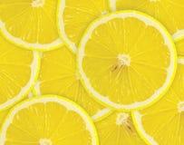 Göra sammandrag bakgrund med citrus-frukt av citronskivor. Närbild. Royaltyfri Foto