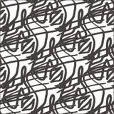 göra sammandrag bakgrund tecknade waves för vektorn för handillustrationmodellen seamless Royaltyfria Bilder