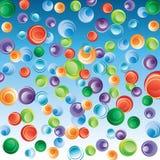 göra sammandrag bakgrundsbubblor Royaltyfria Bilder