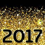 göra sammandrag bakgrundsguld Guld- mousserande paljetter Mallinbjudan för fastställd design, ferie, bröllop, nytt år Modern inne Royaltyfri Fotografi
