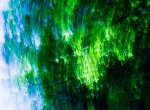 göra sammandrag blå green för blandningen Arkivbilder