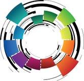 göra sammandrag den färgade cirkeln Royaltyfria Foton