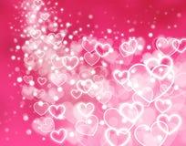 göra sammandrag den glödande hjärtapinken för bakgrund stock illustrationer