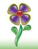 göra sammandrag den glansiga violeten för blomman Arkivfoton