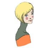 göra sammandrag den illustrerade gulliga flickan royaltyfri illustrationer