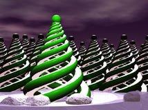 göra sammandrag den moderna treen för jul Arkivfoto