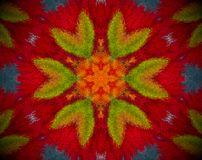Göra sammandrag den pressade ut mandalaen med röd, orange, blå och grön färg vektor illustrationer