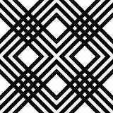Göra sammandrag den randiga geometriska modellen med linjer och raster Sömlös monochromatic bakgrund i vit- och svartspektrum Royaltyfria Foton