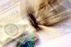 göra sammandrag dollar Arkivbilder