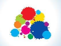 göra sammandrag färgrika regnbågefärgstänk Arkivbild