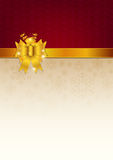 Göra sammandrag guld- band- och vektorbakgrund Arkivbilder