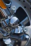 göra sammandrag krommotorbiken Arkivfoton