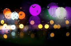 Göra sammandrag kulöra lampor stock illustrationer
