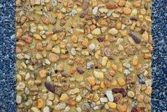 Göra sammandrag många typ av stenväggen Arkivbilder