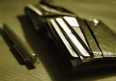 göra sammandrag plånboken Arkivfoton