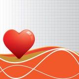 Göra sammandrag röd hjärtawhittextur. Arkivfoton