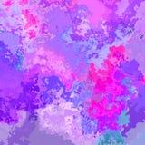 Göra sammandrag söta för rosa färger, magentafärgade och blåa för nedfläckad sömlös modellbakgrund färger för lilor, för violeten stock illustrationer