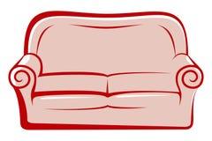 Göra sammandrag sofaen Arkivfoto