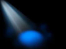 Göra sammandrag strålkastareblåttbakgrund Fotografering för Bildbyråer