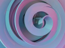 Göra sammandrag swirly rosa form på svart bakgrund 3d royaltyfri illustrationer