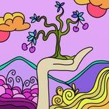 göra sammandrag treen Arkivbild