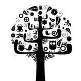 göra sammandrag treen Royaltyfria Bilder