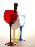 Göra sammandrag Winebakgrundsdesignen Arkivfoto