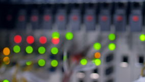 Göra suddig ut LEDDE ljus av ett funktionsdugligt nätverkssystem lager videofilmer