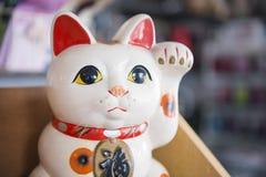 Göra tecken åt katt den lyckliga dockan från Japan Royaltyfri Fotografi