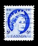 Göra till drottning Elizabeth II, Definitives 1954-62 - Wilding ståendeserie Royaltyfri Bild