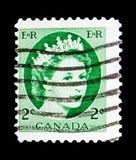 Göra till drottning Elizabeth II, Definitives 1954-62 - Wilding ståendeserie Arkivbilder