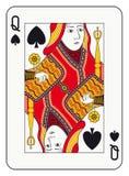 göra till drottning spadar stock illustrationer