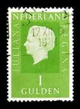 Göra till drottning Wilhelmina (1880-1962), serie, circa 1969 Arkivbild