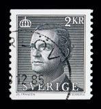 Göra till kung Carl XVI Gustaf, serie, circa 1985 Arkivbild