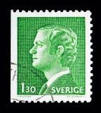 Göra till kung Carl XVI Gustaf, serie, circa 1978 Royaltyfria Bilder