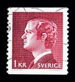 Göra till kung Carl XVI Gustaf, serie, circa 1974 Royaltyfri Bild