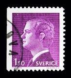 Göra till kung Carl XVI Gustaf, serie, circa 1980 Royaltyfri Foto