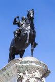 Göra till kung Charles den 1st statyn i Trafalgar Square, London Royaltyfria Foton