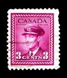 Göra till kung George VI, serie för frågan för försök för krig 1942-48 definitiv, cir Arkivfoto