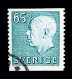 Göra till kung Gustaf VI Adolf, serie, circa 1971 Arkivbilder