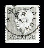 Göra till kung Gustaf VI Adolf, serie, circa 1957 Arkivfoto