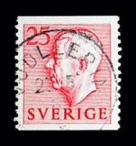 Göra till kung Gustaf VI Adolf, serie, circa 1954 Royaltyfria Bilder
