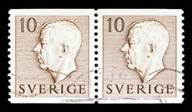 Göra till kung Gustaf VI Adolf, serie, circa 1954 Royaltyfri Foto