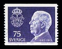 Göra till kung Gustaf VI Adolf, serie, circa 1973 Arkivbilder