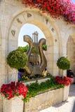 Göra till kung harpan för David ` s, stad av David i Jerusalem, Israel Royaltyfri Fotografi