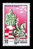 Göra till kung och adla, historia av schackserie, circa 1983 royaltyfri foto
