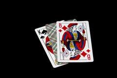 Göra till kung, sila och öppna inte kortet Arkivbilder