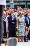 Göra till kung Willem-Alexander och ¡ ximaen för drottningen MÃ av Nederländerna, dagen 2014, Amstelveen, Nederländerna för konun Arkivbilder