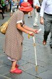 Göra till tiggare på gatorna av Florence, Italien Royaltyfria Bilder