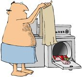 göra tvätterimannen Royaltyfria Bilder